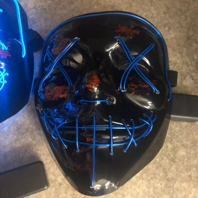 Halloween Mask LED Light Up Party Masks - The Purge Glow In Dark