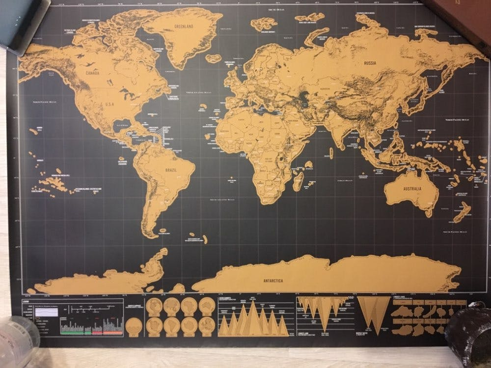 Personalized Travel Scratch Off World Map