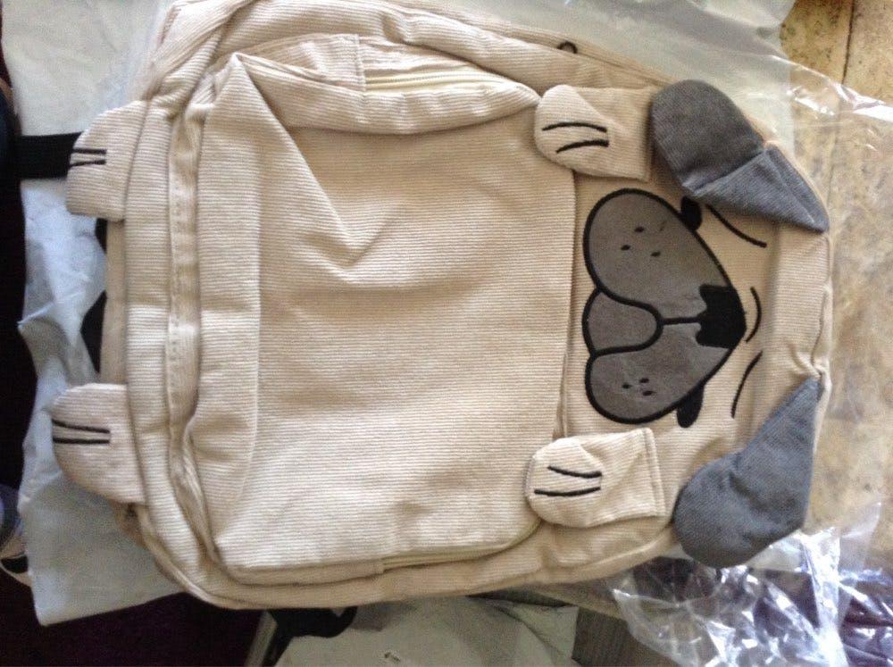 Corduroy Pup Backpack