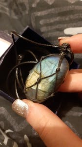 Hand-Crafted Dragons Heart Labradorite Necklace