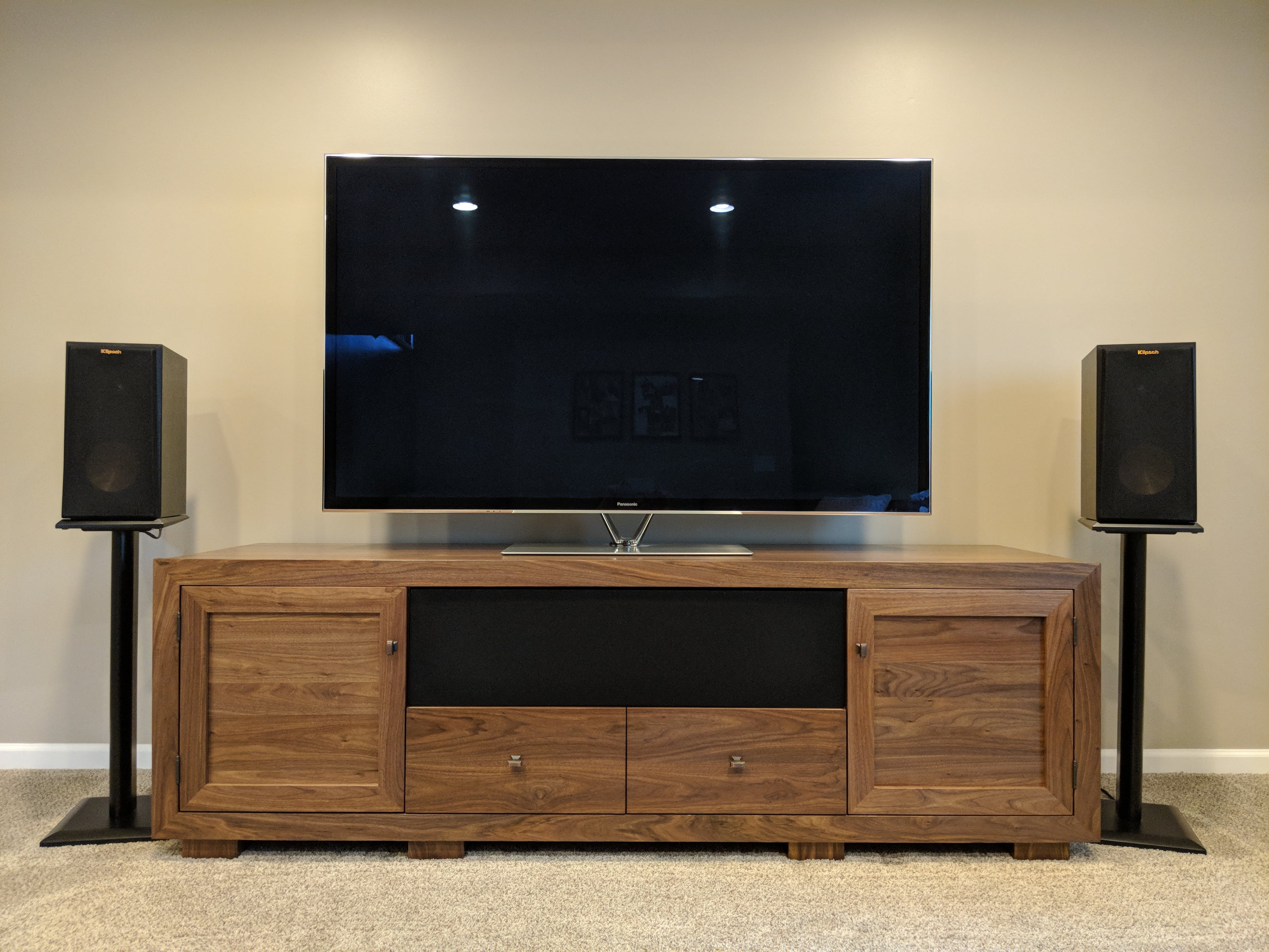 Stand Out Designs : Haven ex quot wide solid wood media console tv stand av