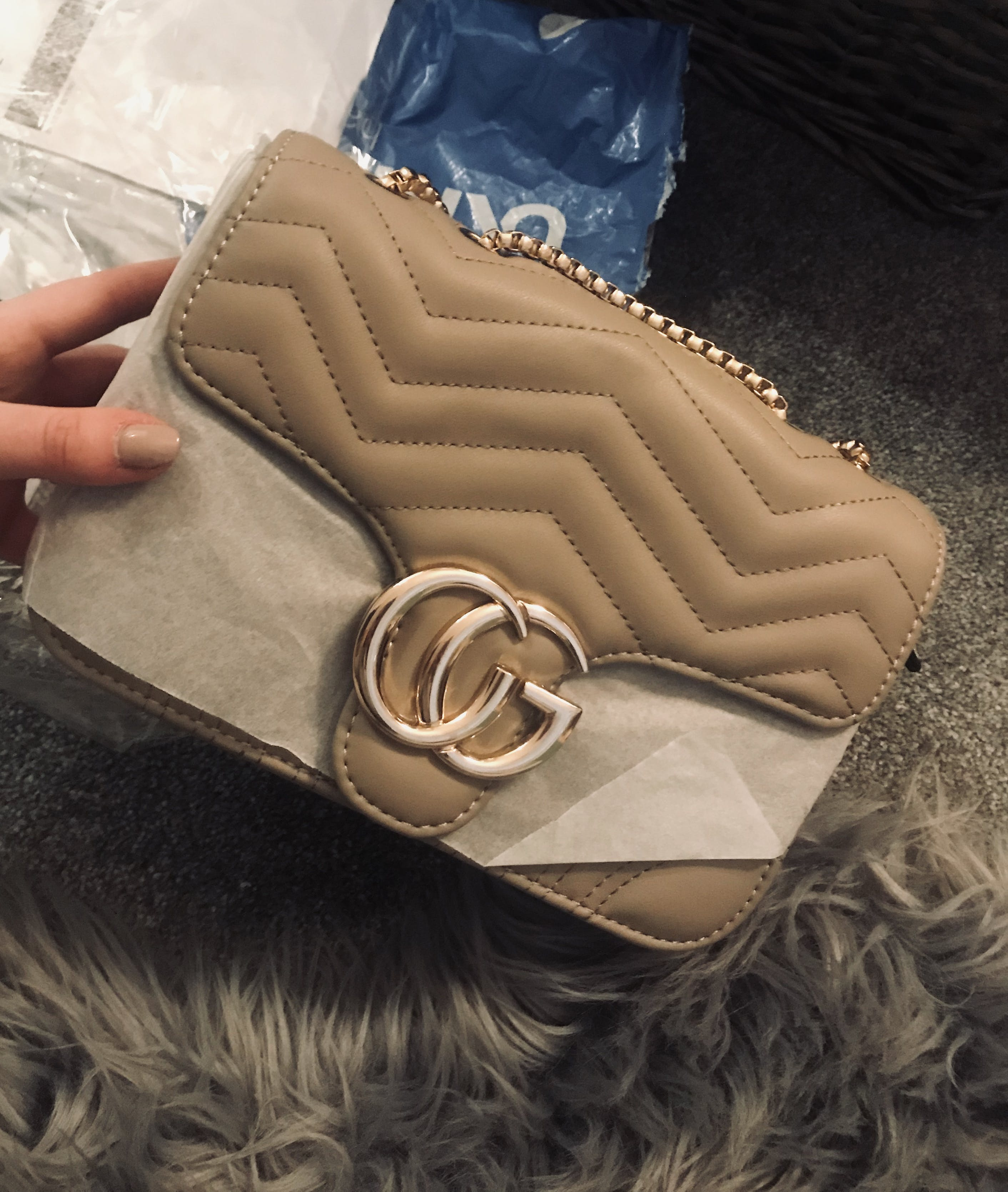 fae81ae66 Talia Crossbody Gucci Inspired Marmont Bag - Cream – Style Of Beyond