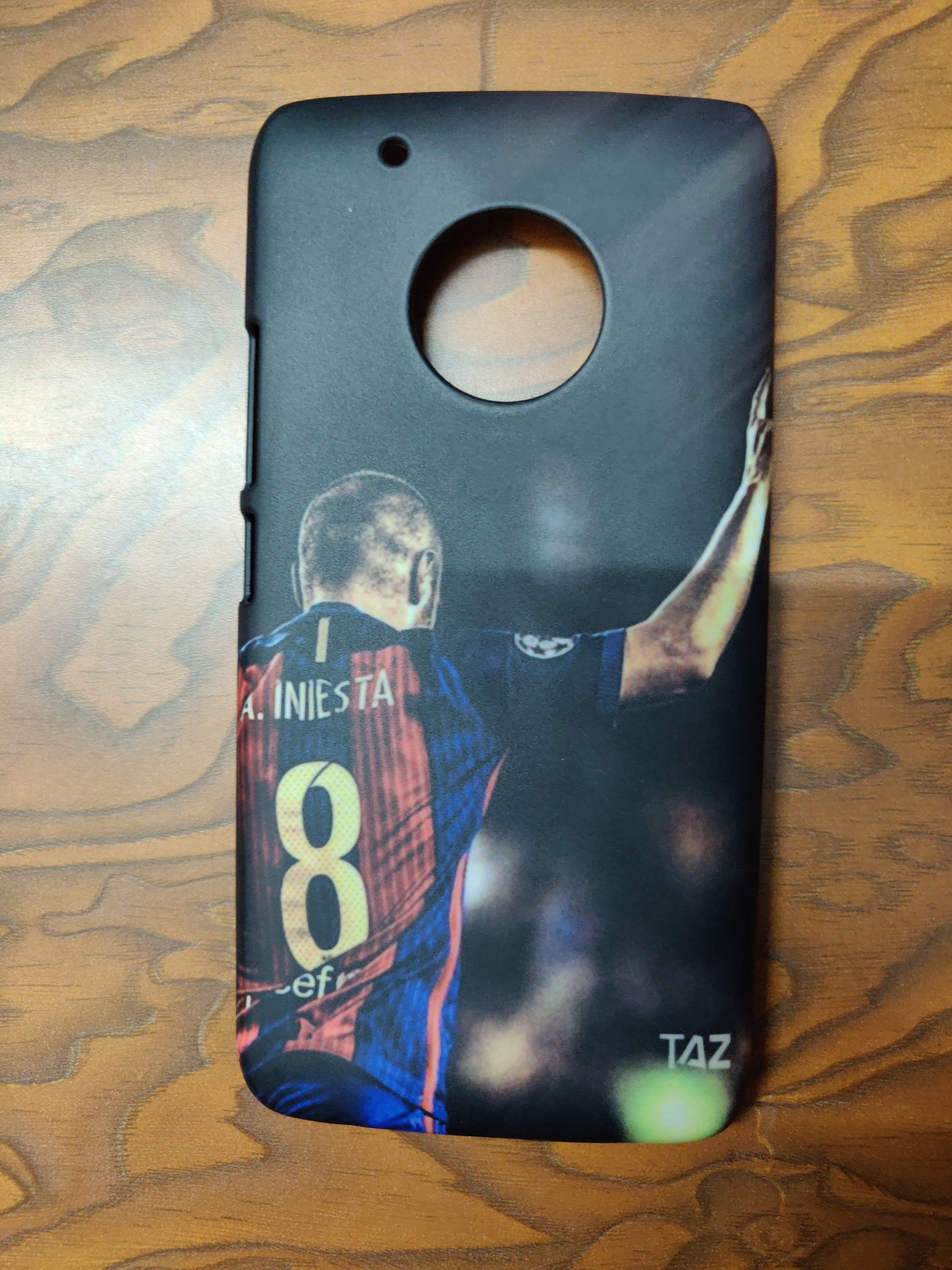 TraTec Football - Andres Iniesta Printed Case For Moto G5+