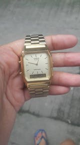 Casio Vintage AQ-230GA-9D Gold Plated Watch for Men and Women