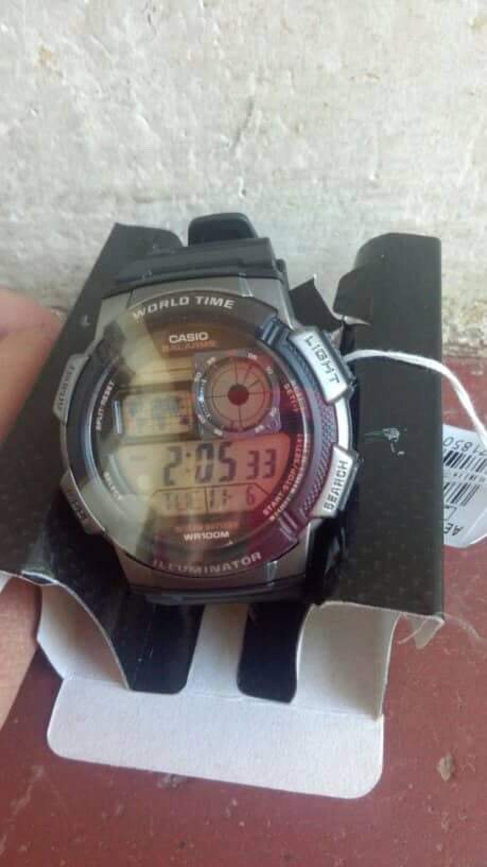 Casio Ae 1000w 1b Black Resin Strap Watch For Men Portal World Time 1000wd Original User Picture