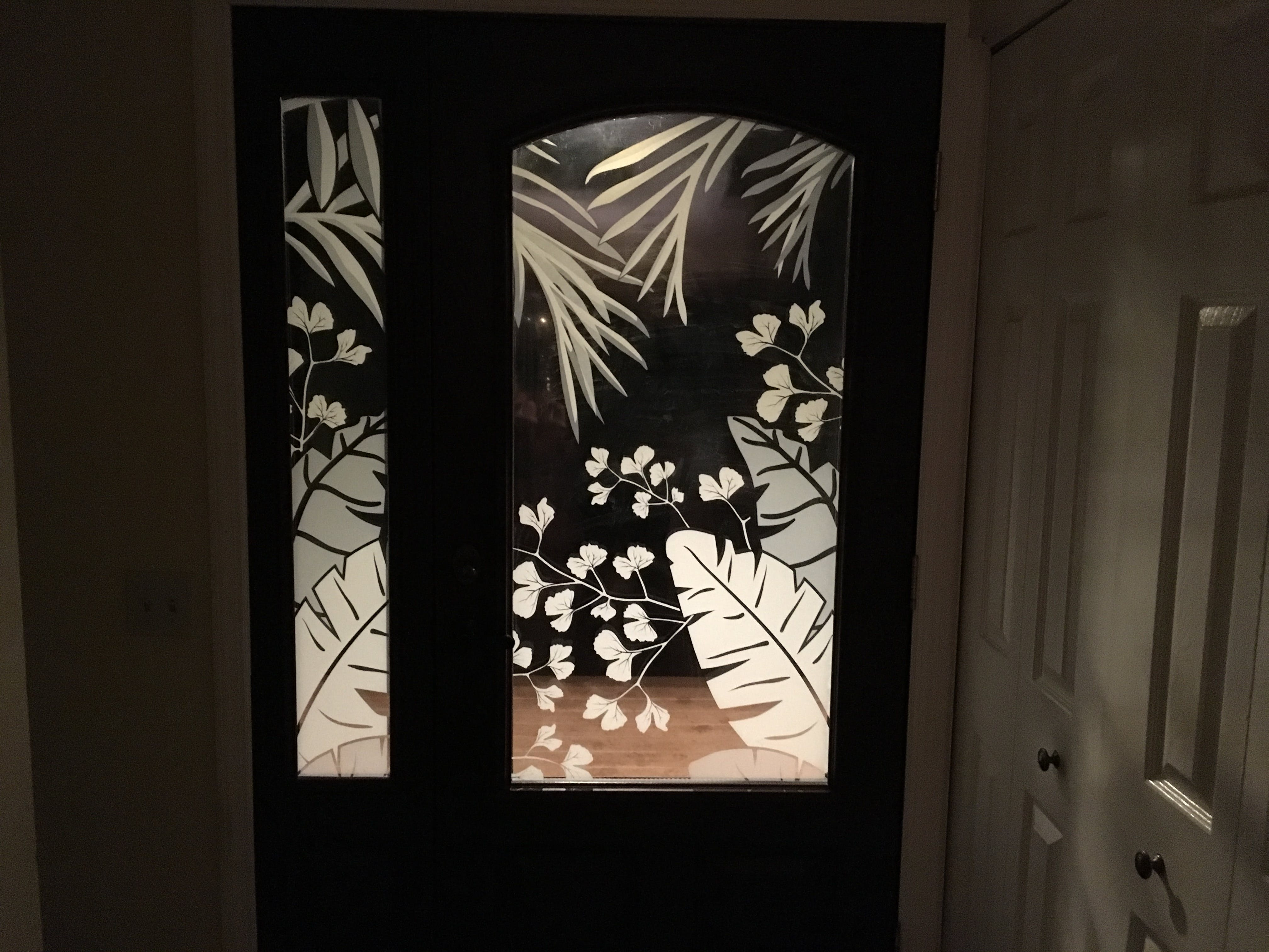 Tropical Window Film Decorative Window Film Etched