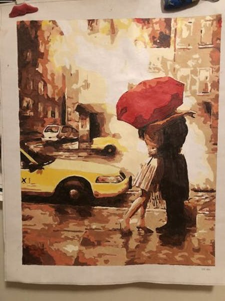The Red Umbrella - Paint by Numbers Kit for Adults