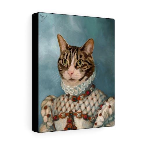 Female Royal Portrait - Custom (Your Pet) Canvas Art