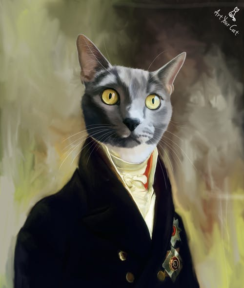 Male Royal Portrait - Custom (Your Pet) Canvas Art