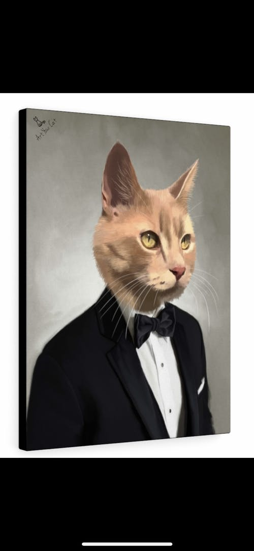 The Tuxedo - Custom (Your Pet) Portrait