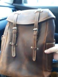 Hanson - Premium Leather Travel Backpack