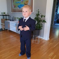Regular 5pc Suit Black Navy Gray, 6m-20