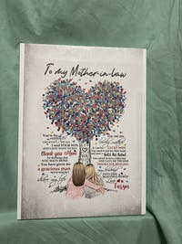 Personalized Poster & Canvas | To my Mother in law | you are the mother , you are the mother i received the day HT01