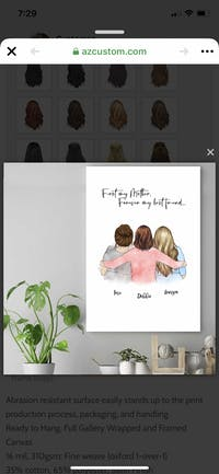 Personalized Poster & Canvas Mother's Hug, Mom and Daughter, Grandma and Granddaughter 2 Girlfriends Two Sisters Mother's Day Gift HT01
