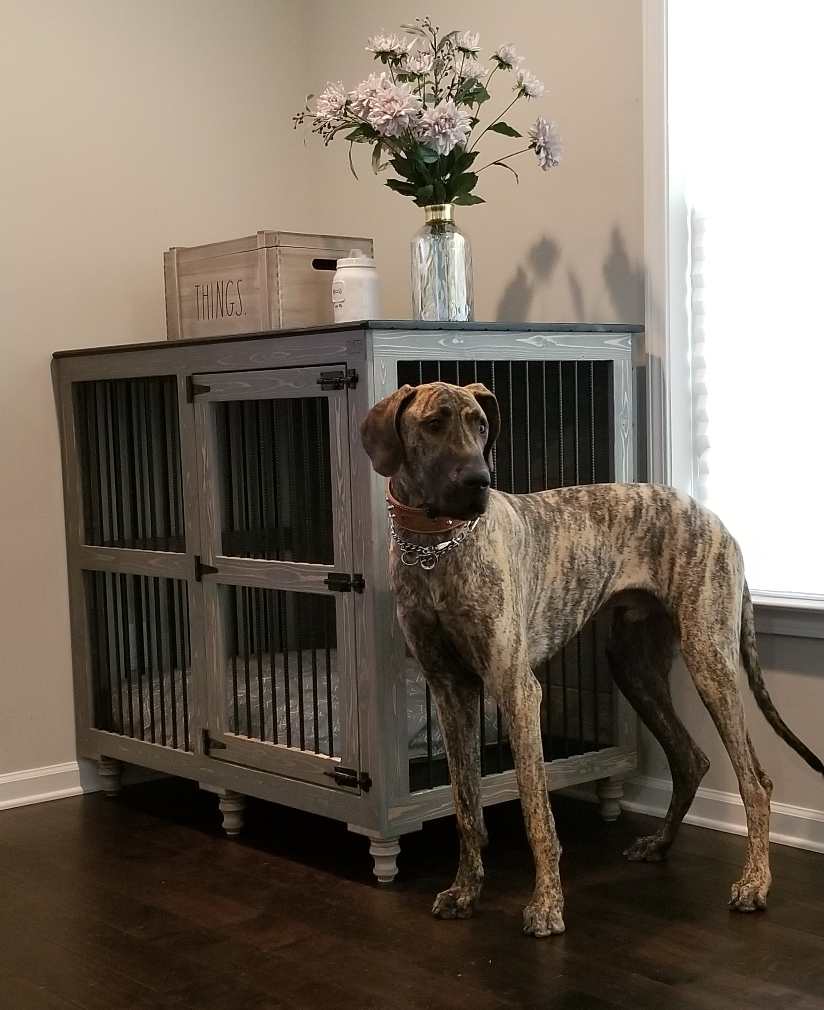 Great Dane Dog Furniture Custom Kennel For Danes B