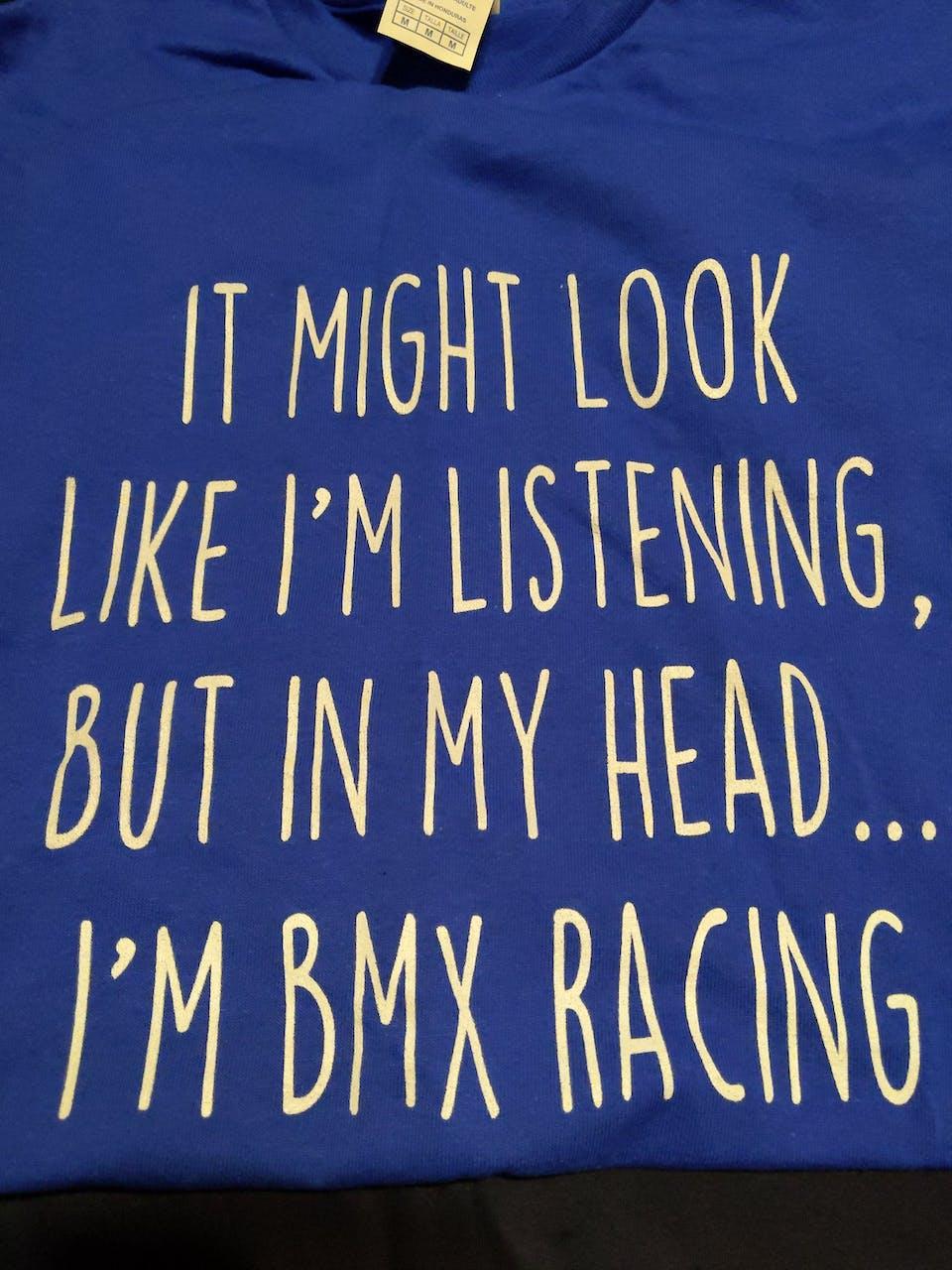 Funny BMX Racing Shirt Best BMX Racer T Shirt Gift Idea for BMX Racer Unisex Fit T-Shirt