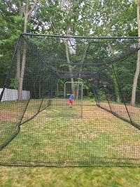 Freestanding Trapezoid Batting Cage [Complete]