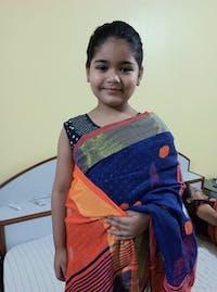Blue Shade Handwoven Linen Saree