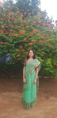 Mint Green Shade Organza Silk Handblock Print Saree