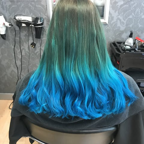 Punky Colour Turquoise - Semi-Permanent Conditioning Hair Colour - Lasts 25+ Washes