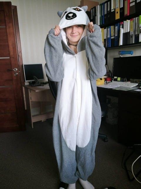 Lemur Kigurumi   Kigu Inspired Adult Onesie Hooded Pajamas