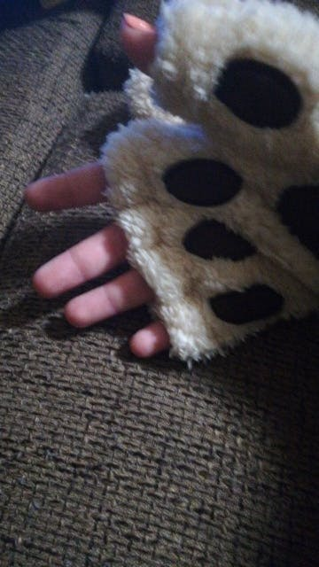 Fingerless Animal Paw Gloves for Adults