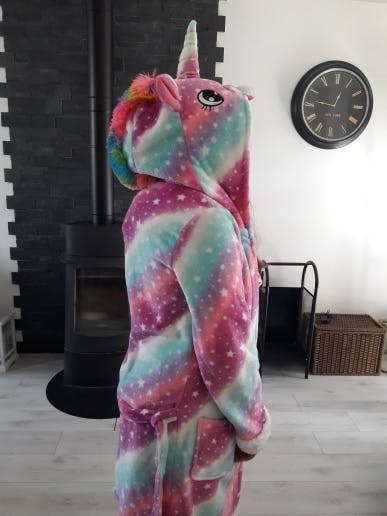 Hooded Unicorn Robe for Adults