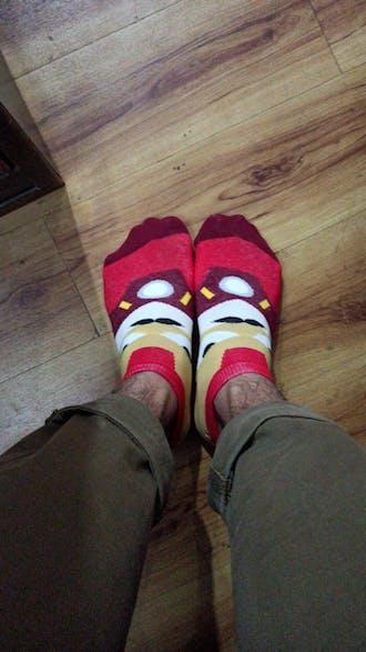 Iron Man Cartoon Socks