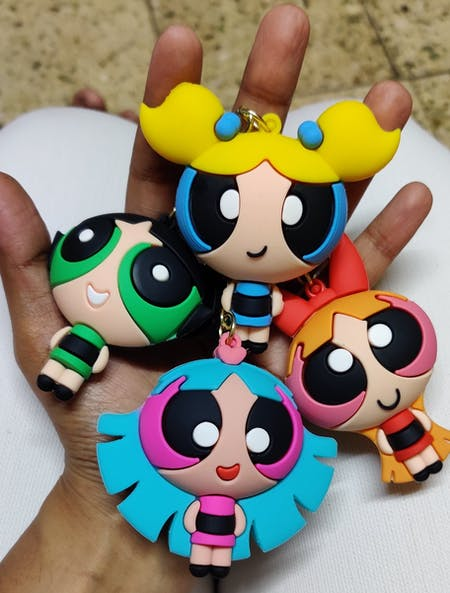 3D Powerpuff Girls Keychain