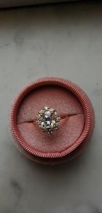 Luxury 2CT Moissanite 14K White Gold Ring