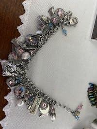 Guardian Angel Pearl Charm Bracelet