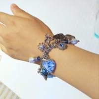 Blue Willow Heart Bracelet