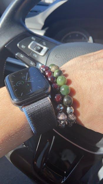 The Wood Element - Dark Chrysoprase Stretch Bracelet