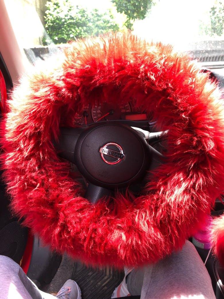 Plush Warm Steering Wheel Cover Woolen Handbrake Car Accessory Auto Fur 3pc