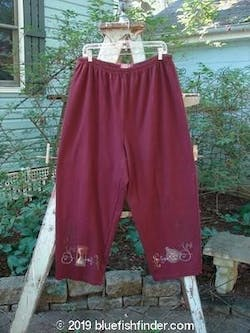 1999 Interlock Easy Pant Hour Glass Red Wine Size 2