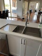 Logan 1075x450 Single & Qtr Bowl with Drain Board Sink
