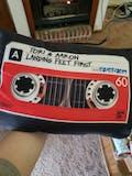 Cassette Tape Black - Throw Pillow