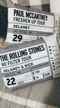 Concert Ticket - Throw Pillow