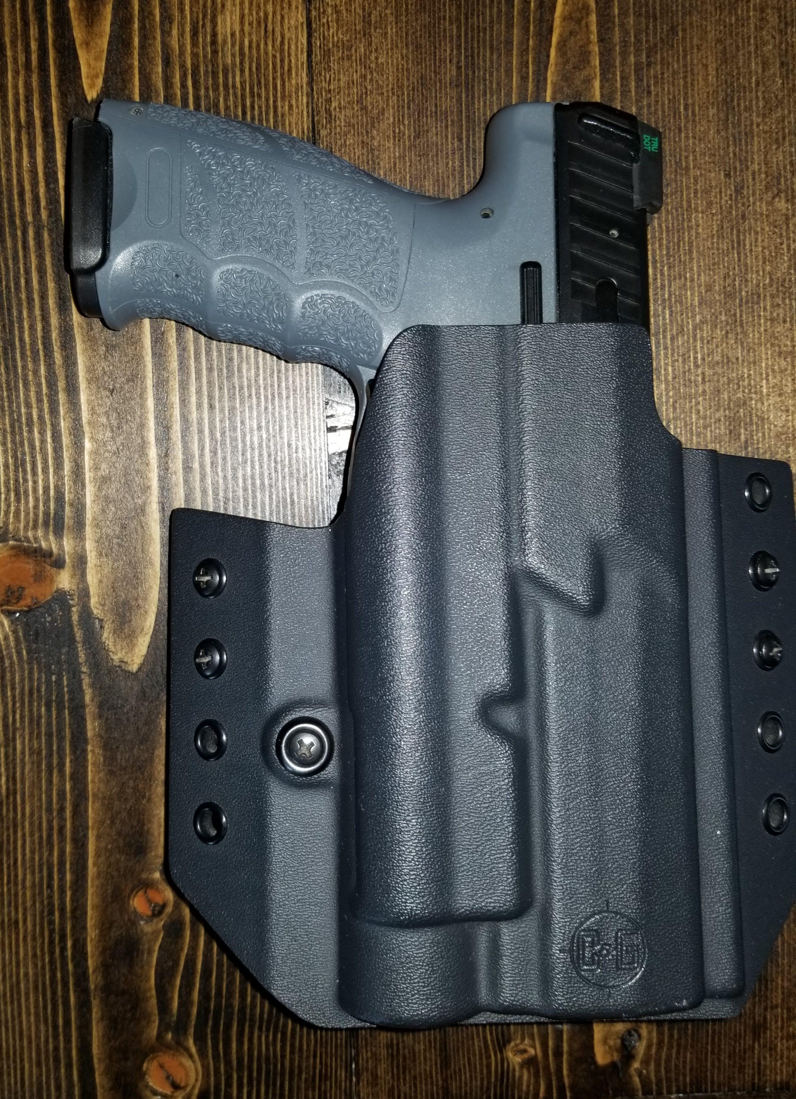 Custom OWB Covert Kydex Pistol & Mag Holster Combo