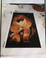 """""""Girl with fox"""" Diamond Painting kit"""