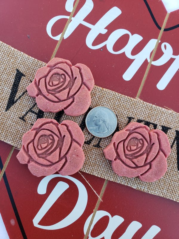 Rose Cookie Cutter Outline & Stamp