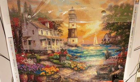 Cottage by the Sea Diamond Painting Art Kit