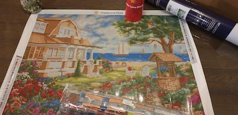 Sea Garden Cottage Diamond Painting Art Kit