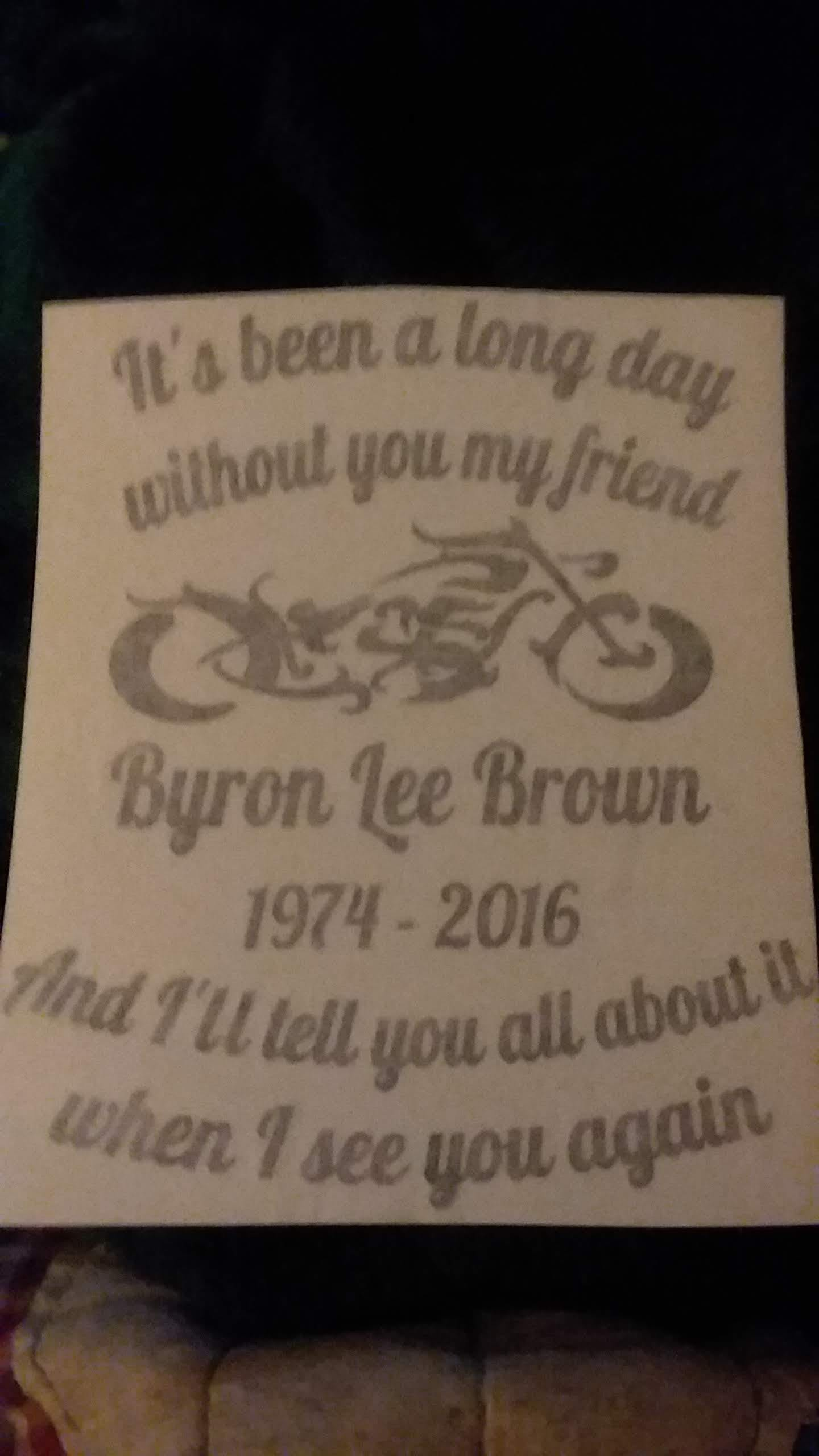 Its been a Long day Motorcycle In Loving Memory Window Decal Sticker