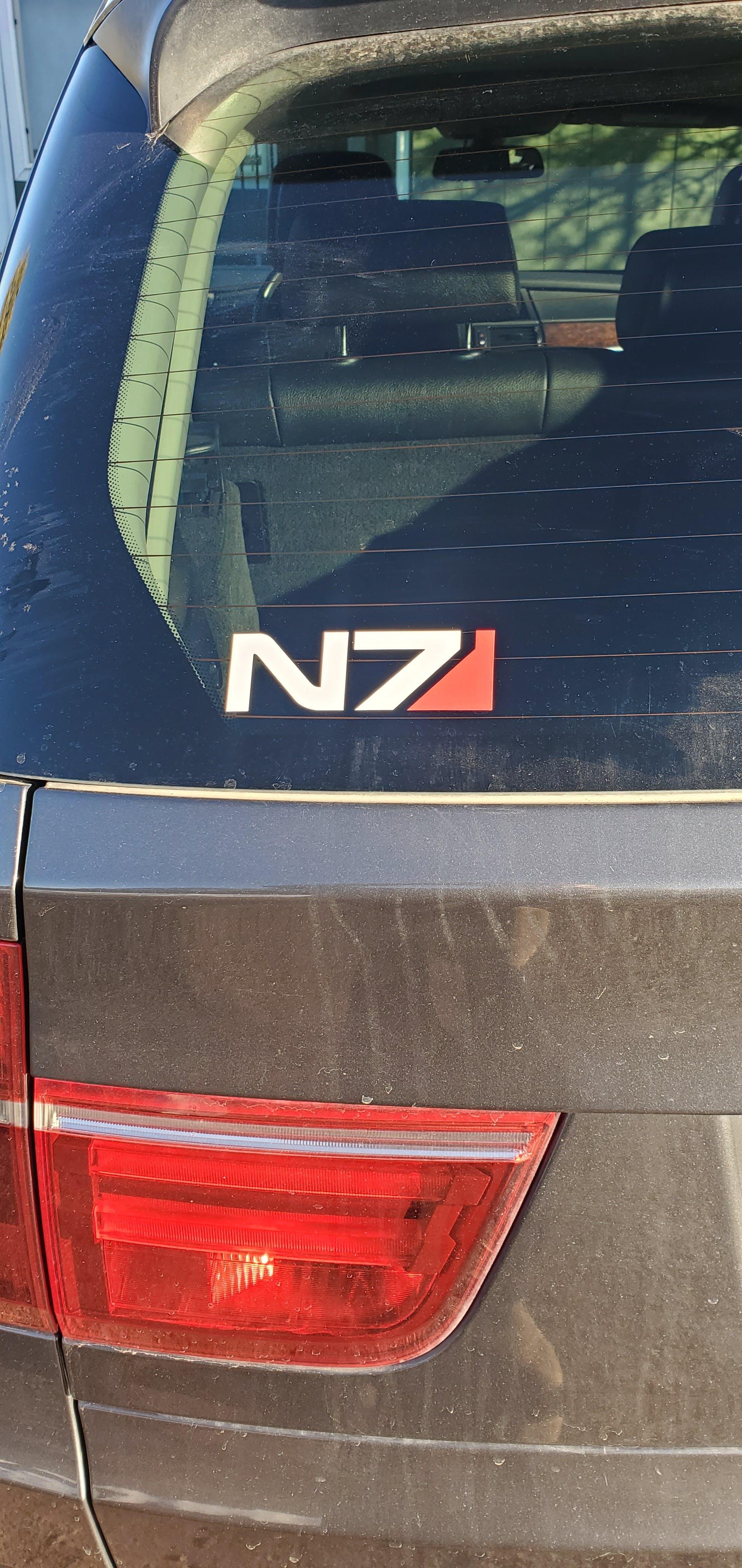 "Mass Effect N7 Adhesive Vinyl Decal Sticker Car Truck Window Bumper Laptop 12/"""