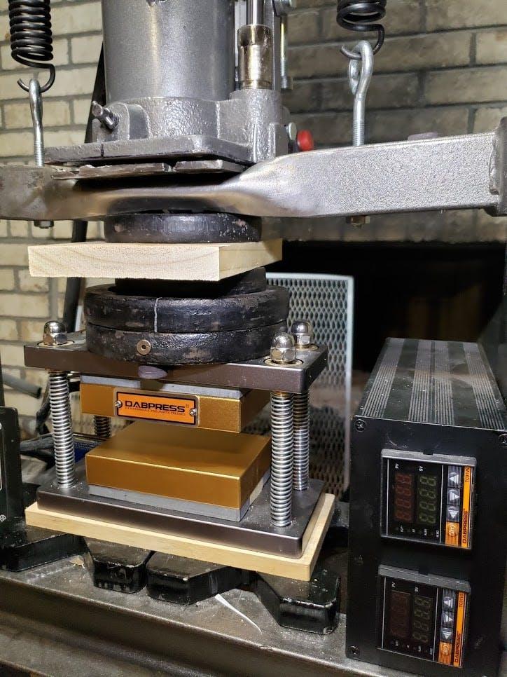 New 3x5 DIY Caged Rosin Press Plates Kit - Build Your Own 10-12 Ton  Hydraulic Rosin Press