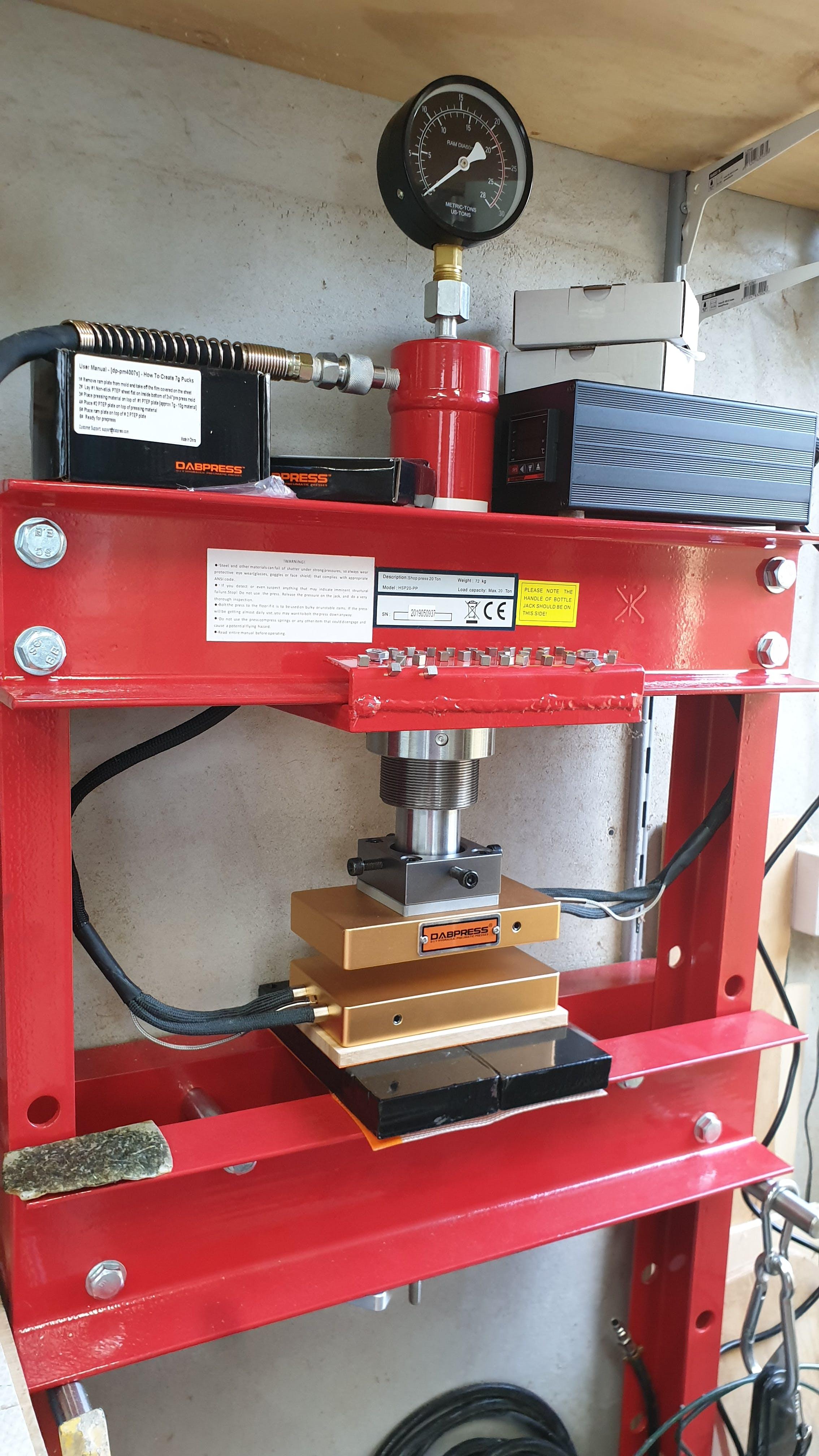 New 4x7 DIY Uncaged Press Plates Kit - 1,200 Watts - Build up 20-30 Ton  Hydraulic Rosin Press