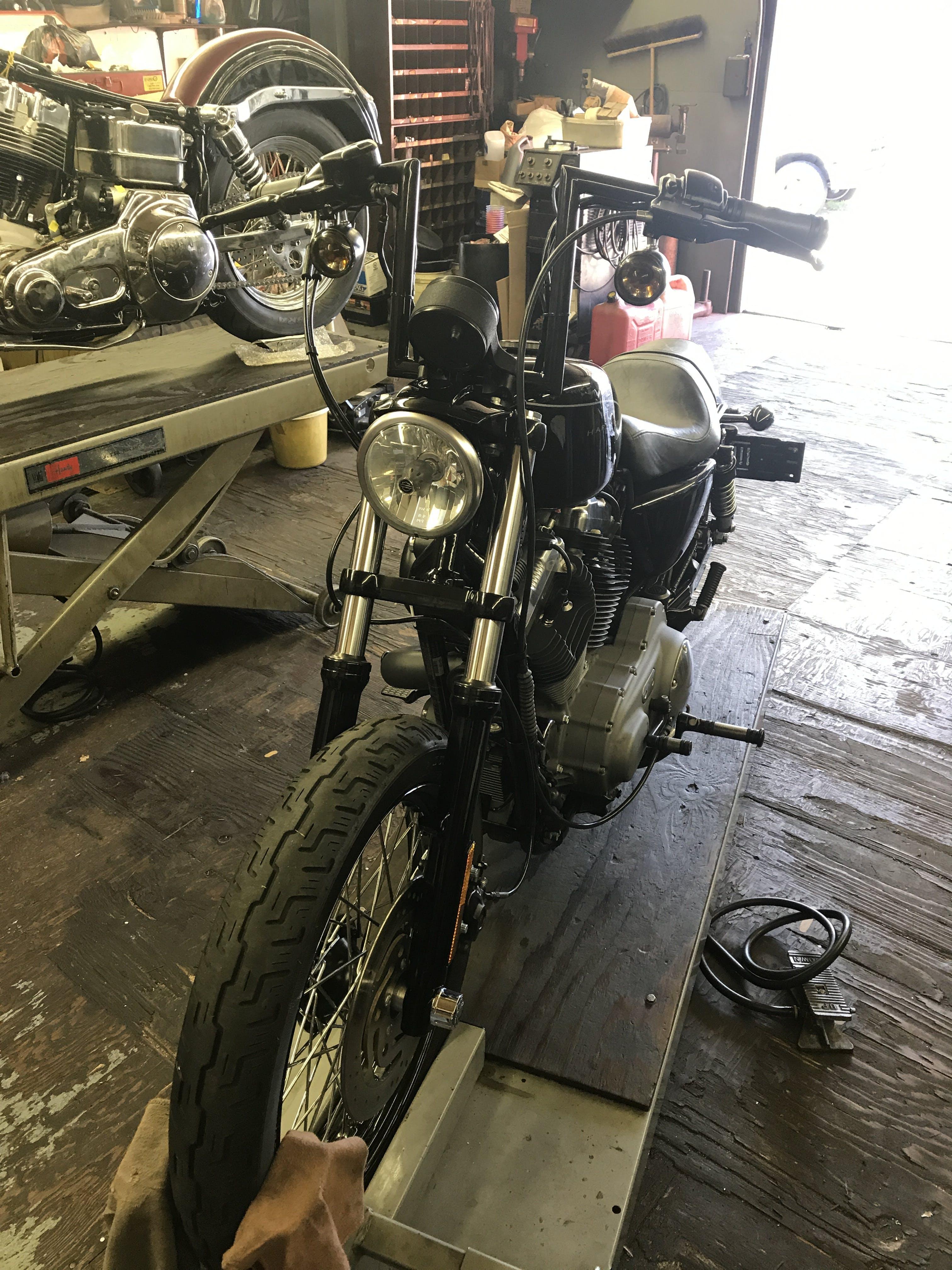 "HardDrive Traditional Black 6/"" Z-Bars Handlebars Harley Sportster Dyna Bobber"