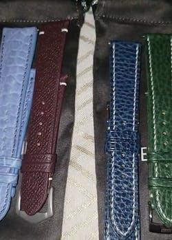 Bordeaux Epsom Side-Stitch Strap