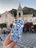 Maiolica Blu - Crystal Clear Phone Case